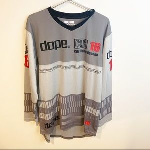Dope l Mens Grey Long Sleeve Graphic Top